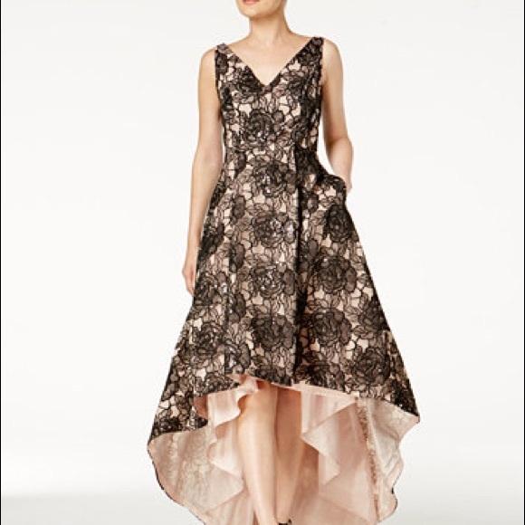 Dresses | Calvin Klein Sequin Highlow Gown Size 4 Nwt | Poshmark